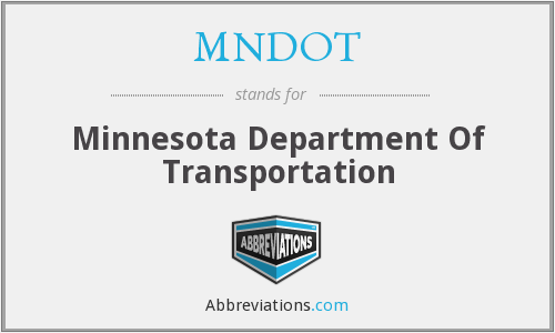 What does MNDOT stand for?