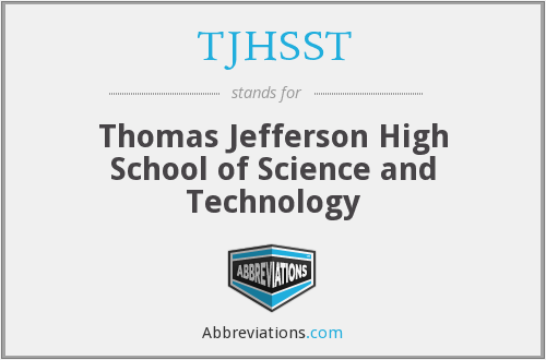 What does TJHSST stand for?