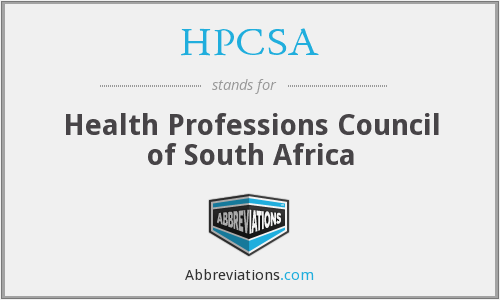 What does HPCSA stand for?