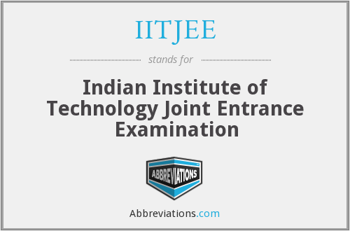 What does IITJEE stand for?