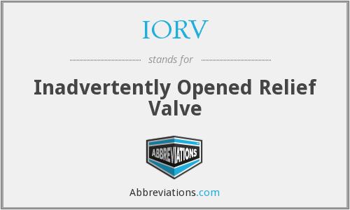 What does IORV stand for?