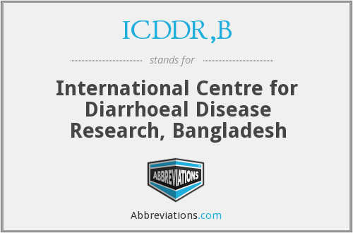 What does ICDDR,B stand for?