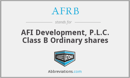 What does AFRB stand for?
