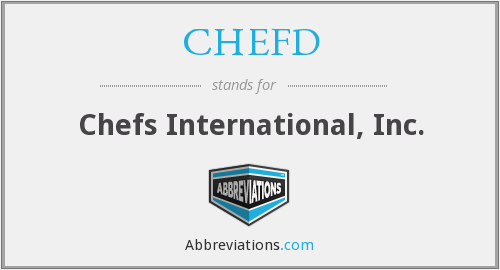 What does CHEFD stand for?