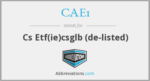 What does CAE1 stand for?