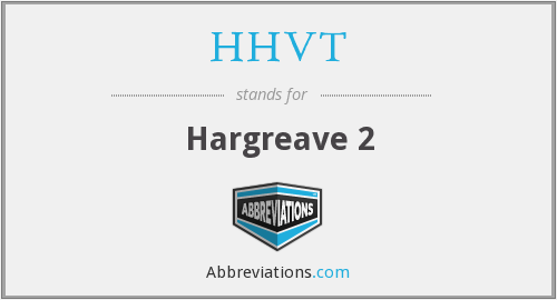 What does HHVT stand for?