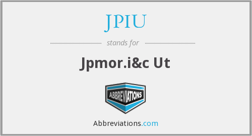 What does JPIU stand for?