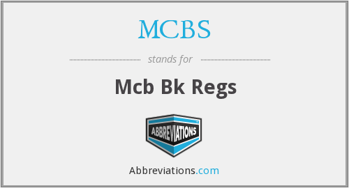 What does MCBS stand for?