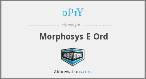 What does 0P1Y stand for?