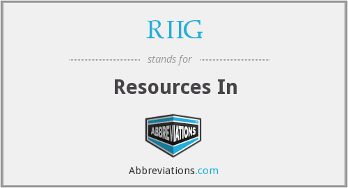 What does RIIG stand for?