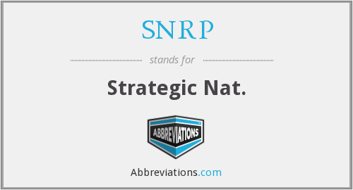 What does SNRP stand for?