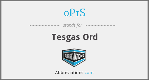What does 0P1S stand for?