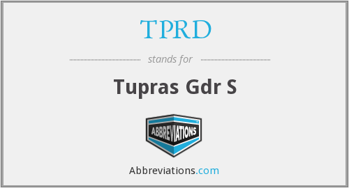 What does TPRD stand for?