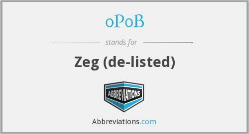 What does 0P0B stand for?