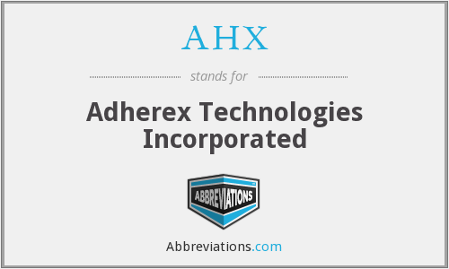 What does AHX stand for?