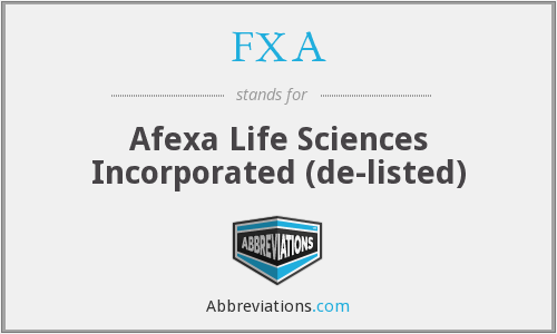 What does FXA stand for?
