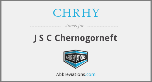 What does CHRHY stand for?