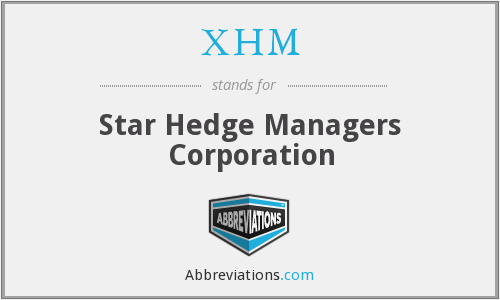 What does XHM stand for?