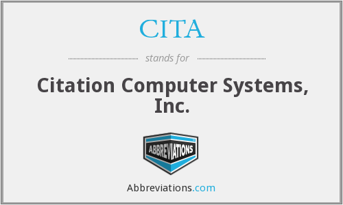 What does CITA stand for?