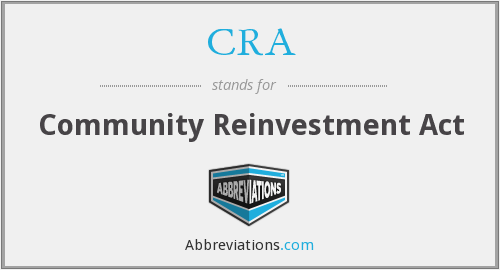What does CRA stand for?