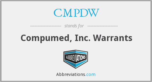What does CMPDW stand for?