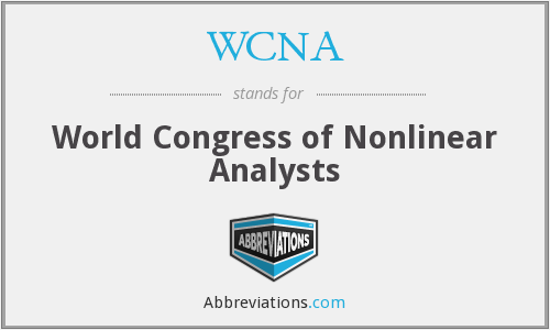 What does WCNA stand for?