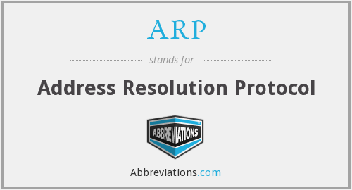 What does ARP stand for?