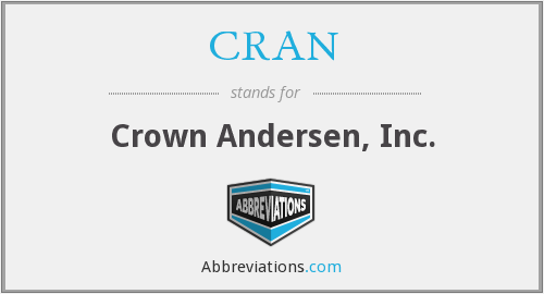 What does CRAN stand for?