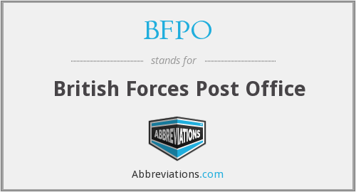 What does BFPO stand for?