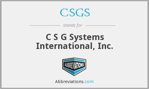 What does CSGS stand for?