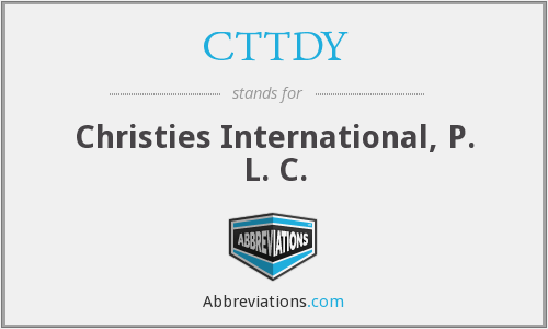 What does CTTDY stand for?