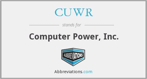 What does CUWR stand for?