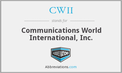 What does CWII stand for?
