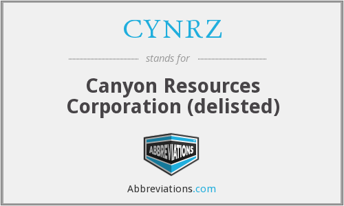 What does CYNRZ stand for?