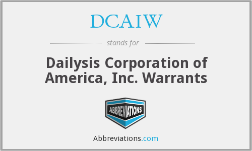 What does DCAIW stand for?