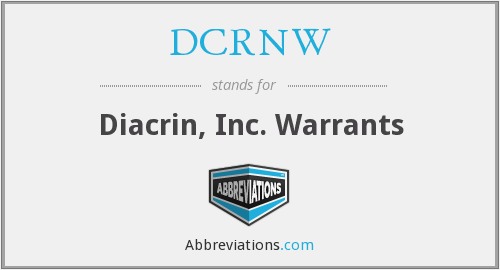 What does DCRNW stand for?