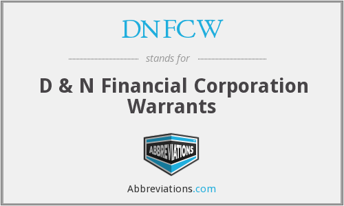What does DNFCW stand for?