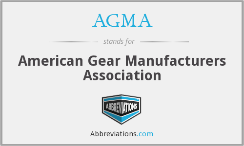 What does AGMA stand for?
