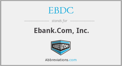 What does EBDC stand for?