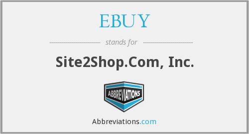 What does EBUY stand for?