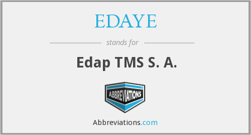 What does EDAYE stand for?