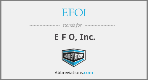 What does EFOI stand for?