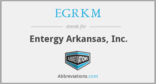 What does EGRKM stand for?