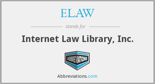 What does ELAW stand for?