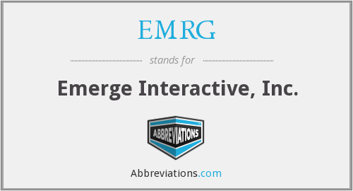 What does EMRG stand for?