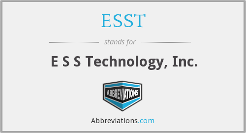 What does ESST stand for?