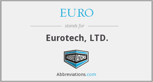 What does EURO stand for?