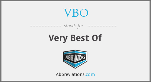 What does VBO stand for?