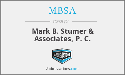 What does MBSA stand for?