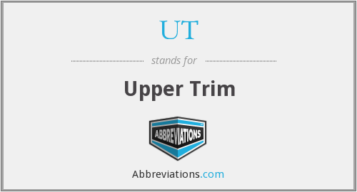 What does UT stand for?